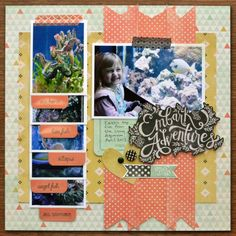 Embark on Adventure #Layout by Aly Dosdall @wermemorykeeper #scrapbook