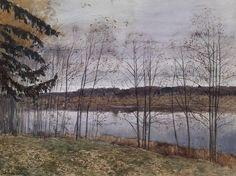 Isaac Levitan (Russian 1860–1900) [Realism, Peredvizhniki] Autumn, 1896.