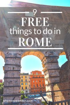 Free things to do in Rome abound. Even if you're budget traveling there are numerous fountains, churches, art, architecture, and history to soak up. Here are our recommendations for the top 9 free things to do in Rome. Rome Travel, Italy Travel, Travel Usa, Travel Europe, Free Things To Do In Rome, Italy Vacation, Italy Trip, European Vacation, Vacation Places