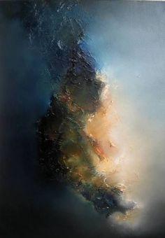 """The hard piece"" - Pintura abstracta de Taraneh Ebrahimi Más"