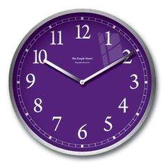 Stainless Steel Purple Clock