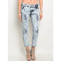 """Faded"" Acid Wash Distressed Jeans Acid wash distressed denim jeans. Brand new without tags. Bare Anthology Jeans"