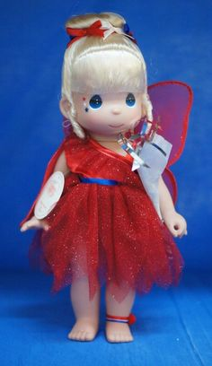 Tinker Bell Boom Red Disney Parks July 4 2013 Precious Moments Doll Signed 4902 #PreciousMoments #IndependenceDayFourthofJuly2013 #Dolls