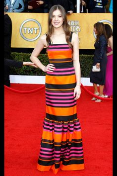 What: Prada Where: Screen Actors Guild Awards in 2011 Why: Steinfeld looked age-appropriate and stylish in stripes for her inaugural awards season.