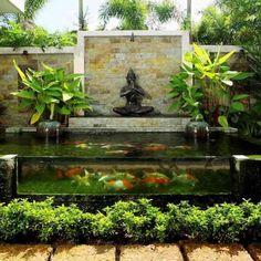 Cr er un bassin contemporain dans votre jardin jardines y jard n - Creer un bassin d ornement avignon ...