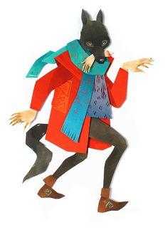 Morgana Wallace maakt papieren collages van vrouwelijke heldinnen en mystieke beesten. Aan haar personages voegt ze lagen toe van unieke materialen zoals stukjes behang. Verder maakt ze in haar werk vaak gebruik van Japans linnen en dun karton. (Via Eyespired)