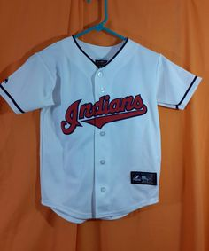 Cleveland Indians Youth Baseball Jersey sz S  33 Swisher Genuine MLB 0ab86a5ee