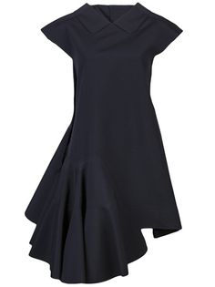 comme des garcons Angle Dress - sharp and angular right side detailing and pleat high neck black - neutral and minimal Fashion Details, Love Fashion, Fashion Design, Comme Des Garcons, Yohji Yamamoto, Kenzo, Day Dresses, Dress To Impress, Dress Skirt