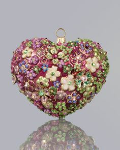 Blossom Heart Christmas Ornament by Jay Strongwater at Neiman Marcus.