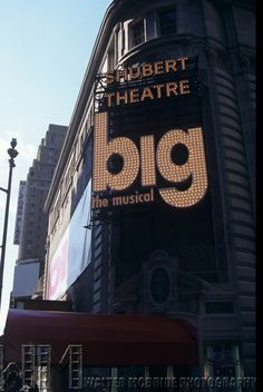 """Broadway marquee """"Big the Musical"""", Shubert Theatre, Broadway, NYC."""