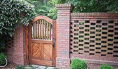 few shots of a custom gate and pierced brick wall we designed turned out nice, fences