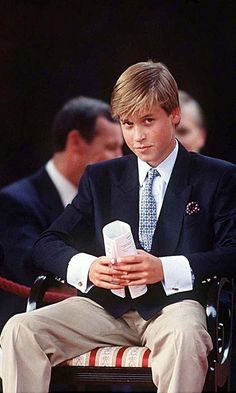 *PRINCE WILLIAM ~ With his boyish good looks, Prince William was already a teenage heartthrob in the making in 1995.