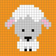 Sheep cross stitch.