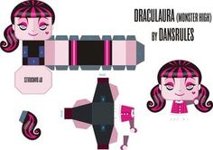 Monster High: Draculaura 3D para imprimir gratis.