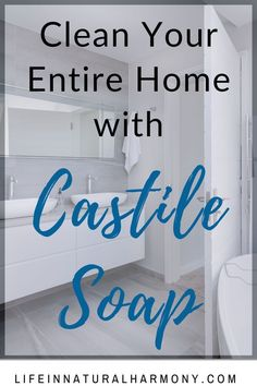 Use castile soap to replace your toxic chemical household cleaners with a nontoxic, biodegradable, effective cleaning option. Natural Cleaning Solutions, Natural Cleaning Recipes, Natural Cleaning Products, Castile Soap Uses, Castile Soap Recipes, Diy Cleaners, Household Cleaners, Diy Home Cleaning, Cleaning Hacks