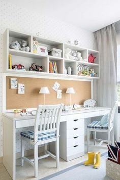Study Table Designs, Study Room Design, Study Room Decor, Room Ideas Bedroom, Kids Room Design, Home Office Design, Study Room For Kids, Kids Study Table Ideas, Kids Homework Room