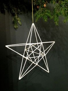 Geometric Christmas Star Large Finnish himmeli by meandshestudios Christmas Star, Christmas And New Year, Christmas Crafts, Straw Decorations, Christmas Decorations, Indoor Crafts, Merry Happy, Tree Toppers, Diy Wreath