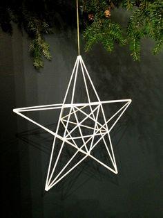Geometric Christmas Star Large Finnish himmeli by meginsherry,