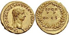 Imperial Rome AV Aureus ND circa 46/7AD Rome Mint 7.78g. Emperor Claudius 41-54AD
