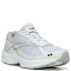 Ryka Womens Brisk Walk White Sneaker 6 C  Wide ** Read more reviews of the product by visiting the affiliate link Amazon.com on the image.