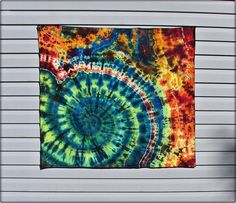 Swirlpool Wildfire Tie Dye Tapestry - Hippie Wall by Moon Dyes