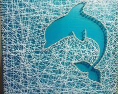 Dolphin String Art