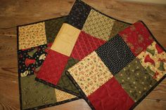 Christmas Merry Medley quilted table runner by ThePrimitivePear