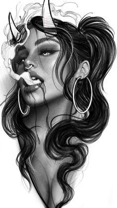 Sketch Tattoo Design, Tattoo Sleeve Designs, Tattoo Sketches, Tattoo Drawings, Body Art Tattoos, Sleeve Tattoos, Realistic Tattoo Sleeve, Girl Face Drawing, Clown Faces