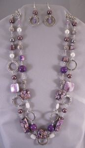 Purple bead necklace whimsy!
