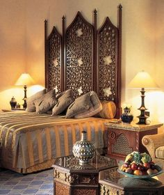 Headboard- make,,,or...use a room divider as a headboard...