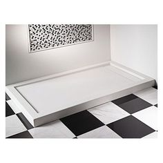 End drain solid-surface shower base with single, dual or triple threshold and features a removable drain cover for clean design. Shower Basin, Kohler Shower, Shower Pan Drain, Shower Pan Installation, Acrylic Shower Base, Drain Cover, Floor Drains, Modern Shower, Contemporary Shower