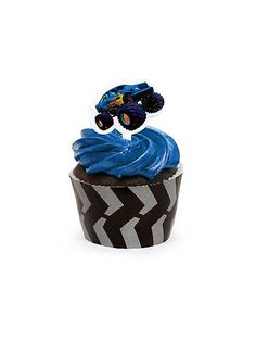 MONSTER TRUCK CUPCAKE WRAPS WITH PICKS....for the cousin kiddos birthday party