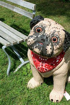 Cute #mosaic dog                                     #mosaicanimals #mosaicart