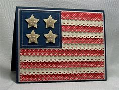 Oh my goodness but this American Flag Card is wonderful!  Gonna make these for sure  :-)