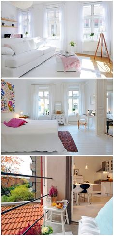 love the all white room
