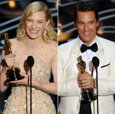 Best Actress in a Leading Role- Cate Blanchett (Blue Jasmine) and Best Actor in a Leading Role- Matthew McConaughey (Dallas Buyers Club)