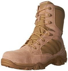 4606ba9f7b83a2 Bates Men s Comp Toe Side Zip Work Boot Mixed-media lace-up boot featuring  ribbing at side