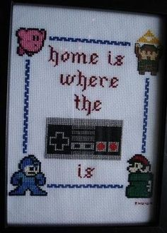 home is where cross stich
