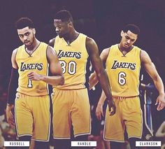 D'Angelo Russell x Julius Randle x Jordan Clarkson #TheFuture #Lakers