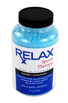 Sport Therapy Bath Crystals -19 Oz- Therapeutic Natural Mineral Salts for Soaking Aches, Pains, & Swelling Relief for Jacuzzi