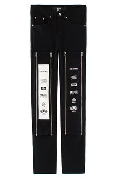 Hood By Air Zip Off Graphic Jean