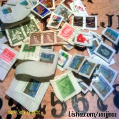 25+ random used Canadian stamps