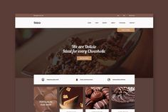 Delicio - Chocolate HTML Template. HTML/CSS Themes