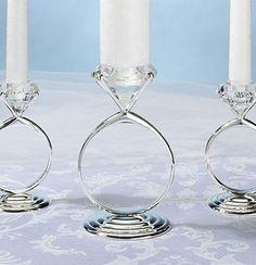 candle rings wedding