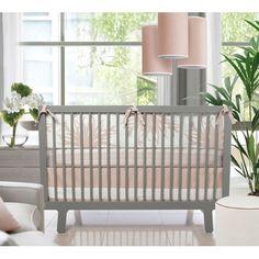 Flora Crib Set in Blush from @PoshTots #bedding #nursery #crib #floral #design