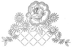 more roses to stitch Floral Embroidery Patterns, Paper Embroidery, Vintage Embroidery, Embroidery Stitches, Embroidery Designs, Victorian Illustration, Wreath Drawing, Creative Embroidery, Cross Stitch Patterns