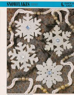 Snowflakes Plastic Canvas Patterns by needlecraftsupershop on Etsy, $2.99