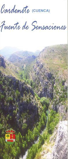 Folleto turístico de Cardenete, Cuenca, con oferta de excursiones guiadas, 2008. #Cuenca #Cardenete #Turismo