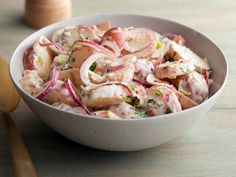 Recipe of the Day: Southwestern Potato Salad Bobby's version comes with all the creaminess of your classic potato salad, plus a kick of Southwestern heat from chipotle pepper puree and cayenne. Do it up with fresh lime juice, chopped cilantro and onion for your zestiest potato salad yet.