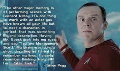 Simon Pegg on being in Star Trek…